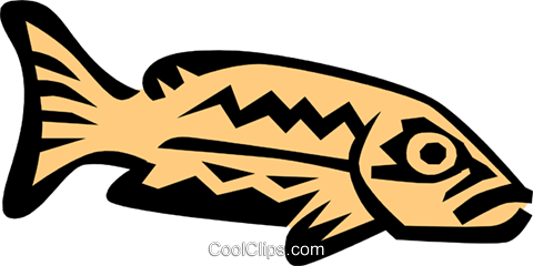 Cool fish Royalty Free Vector Clip Art illustration anim0673