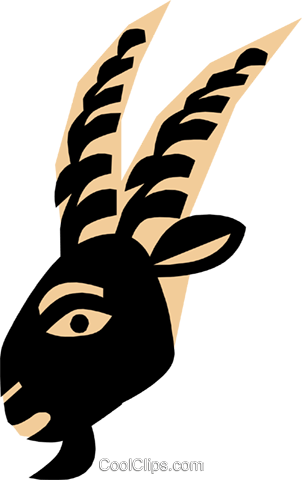 Cool goat head Royalty Free Vector Clip Art illustration anim0679