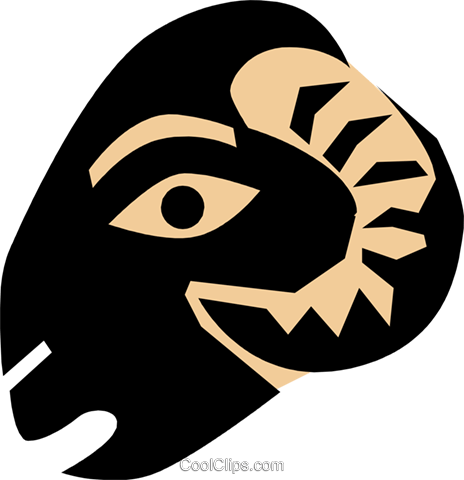 Coal ram's head Royalty Free Vector Clip Art illustration anim0680