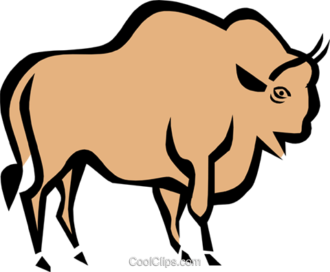 Cool bull Royalty Free Vector Clip Art illustration anim0683