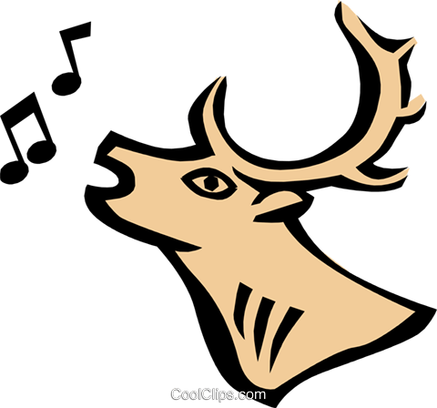 Cool deer Royalty Free Vector Clip Art illustration anim0684