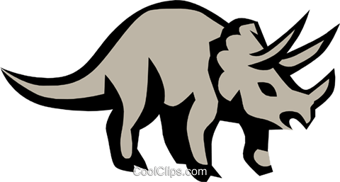 Triceratops Royalty Free Vector Clip Art illustration anim0687