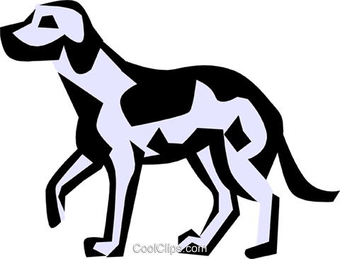 Cool dogs Royalty Free Vector Clip Art illustration anim0689