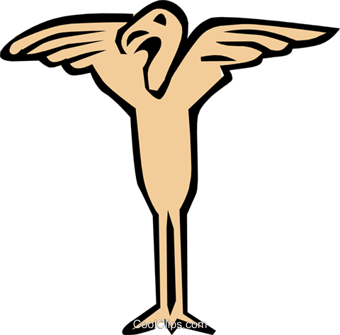 Cool birds Royalty Free Vector Clip Art illustration anim0691