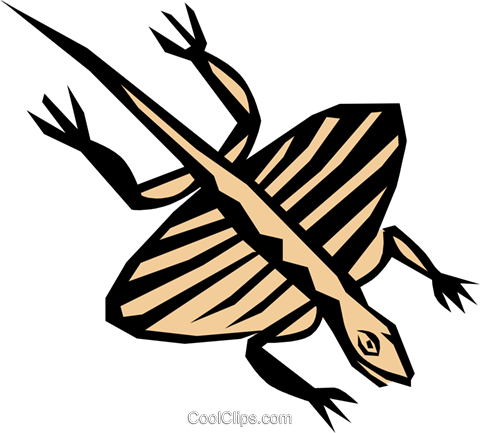 Prehistoric Flying reptile Royalty Free Vector Clip Art illustration anim0693