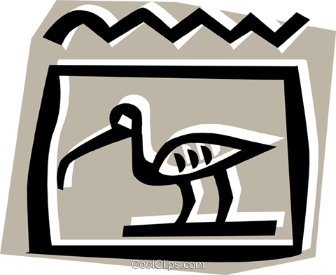 Egyptian hieroglyphic symbols Royalty Free Vector Clip Art illustration anim0697