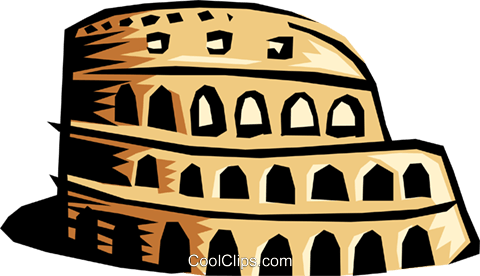 Coliseum Royalty Free Vector Clip Art illustration arch0091