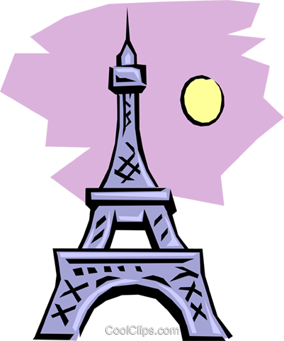 Eiffel Tower Royalty Free Vector Clip Art illustration arch0092