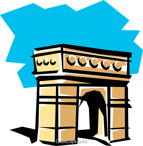 Arc de Triomphe Royalty Free Vector Clip Art illustration arch0096