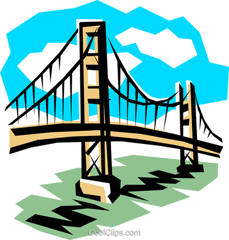 Bridge Royalty Free Vector Clip Art illustration arch0097