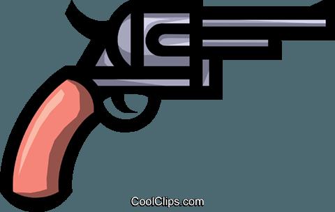 Symbol Of A Handgun Royalty Free Vector Clip Art Illustration