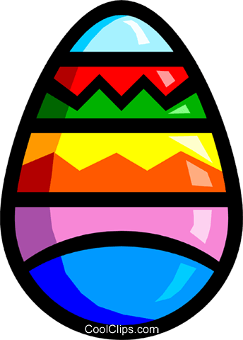 Symbol of an Easter egg Royalty Free Vector Clip Art illustration even0292