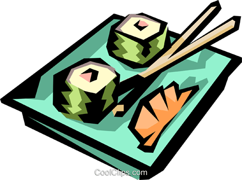Sushi Royalty Free Vector Clip Art illustration food0270
