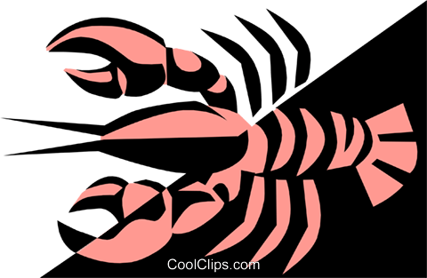 Cool lobsters Royalty Free Vector Clip Art illustration food0445