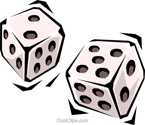 Dice Royalty Free Vector Clip Art illustration hous0713