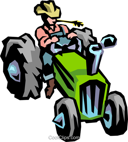 Farm tractor Royalty Free Vector Clip Art illustration indu0293