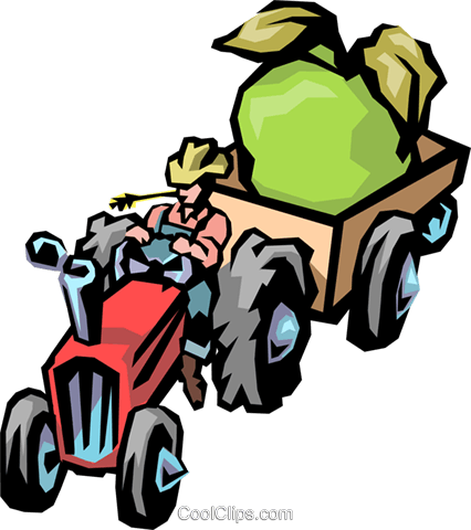 Farm tractor Royalty Free Vector Clip Art illustration indu0294
