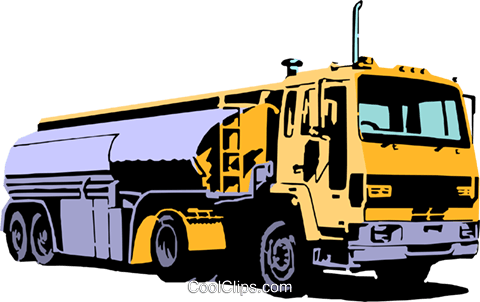Petroleum transport truck Royalty Free Vector Clip Art illustration indu0458