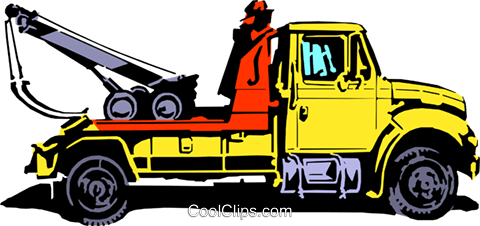 Tow truck Royalty Free Vector Clip Art illustration indu0463