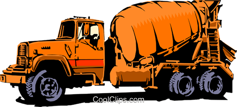 Cement mixer Royalty Free Vector Clip Art illustration indu0465