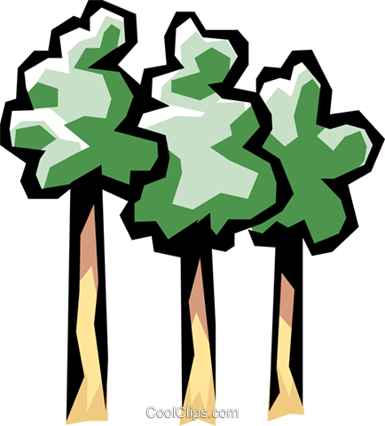 Trees Royalty Free Vector Clip Art illustration natu0115