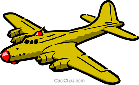 Cartoon warplane Royalty Free Vector Clip Art illustration tran0197