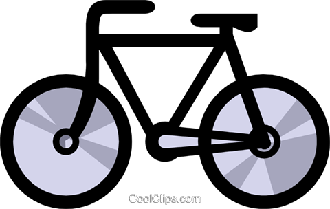 Symbol of a bicycle Royalty Free Vector Clip Art illustration tran0327