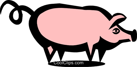 Pig Royalty Free Vector Clip Art illustration anim0717