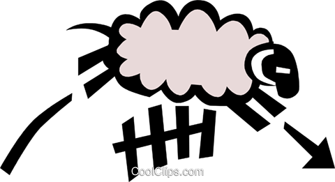 Cool sheep Royalty Free Vector Clip Art illustration anim0718