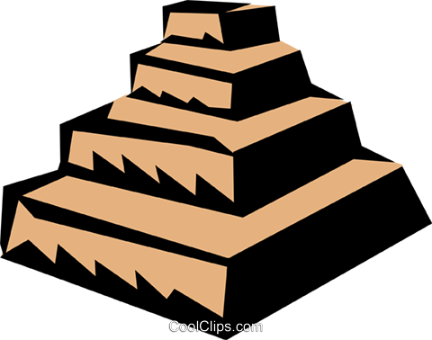 Step pyramids Royalty Free Vector Clip Art illustration arch0259