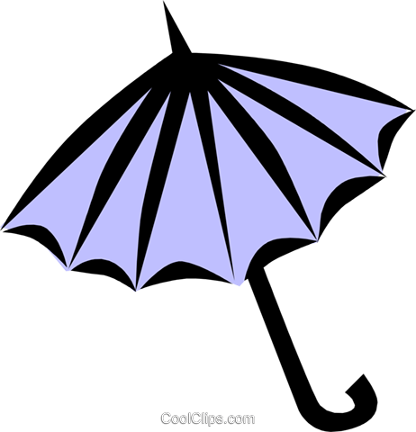 Umbrellas Royalty Free Vector Clip Art illustration arts0166