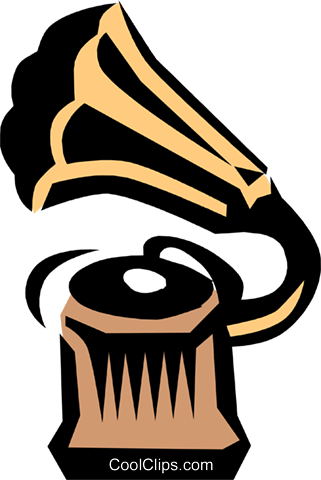 Gramophone Royalty Free Vector Clip Art illustration arts0170