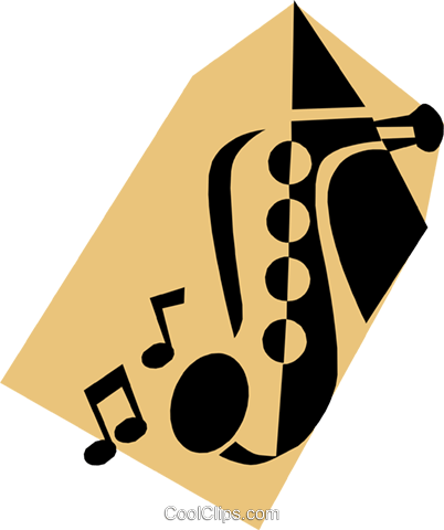 Saxophone Royalty Free Vector Clip Art illustration arts0172