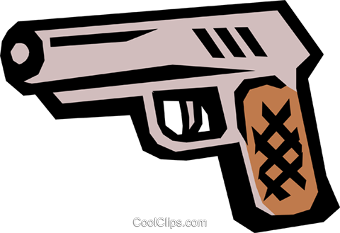 Handgun Royalty Free Vector Clip Art illustration busi0483
