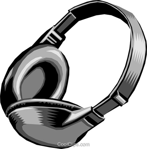 Headphones Royalty Free Vector Clip Art illustration hous0200