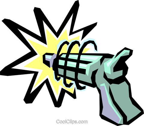 Toy laser gun Royalty Free Vector Clip Art illustration hous0728