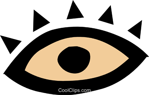 Eye symbol Royalty Free Vector Clip Art illustration medi0203