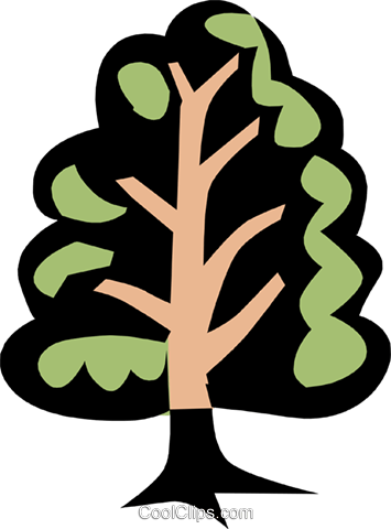 Tree Royalty Free Vector Clip Art illustration natu0265