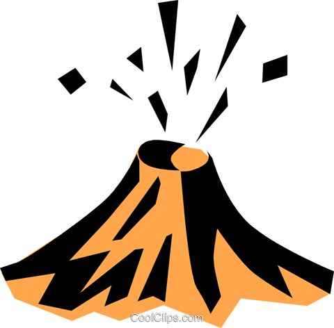 Volcano Royalty Free Vector Clip Art illustration natu0268