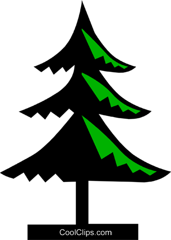 Tree symbol Royalty Free Vector Clip Art illustration natu0269