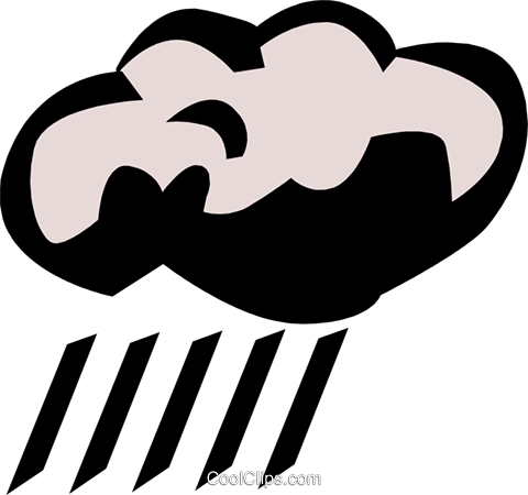 Rain clouds Royalty Free Vector Clip Art illustration natu0278