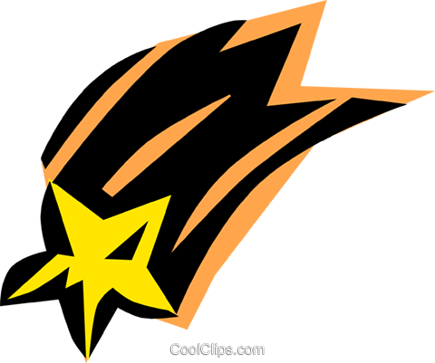Shooting stars Royalty Free Vector Clip Art illustration natu0279