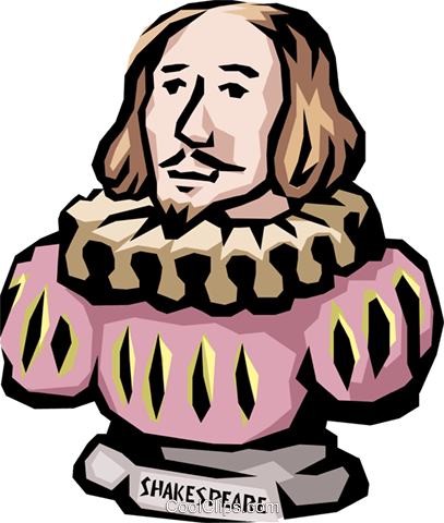 Shakespeare Royalty Free Vector Clip Art illustration peop1186