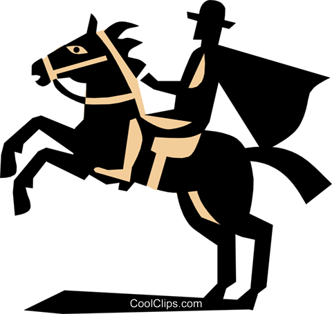 Man with horse Royalty Free Vector Clip Art illustration tran0360