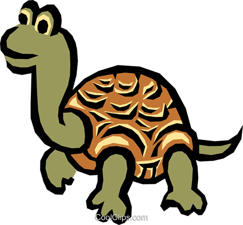 Tortoise Royalty Free Vector Clip Art illustration anim0725