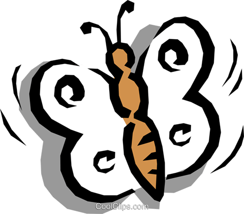 Butterfly Royalty Free Vector Clip Art illustration anim0727