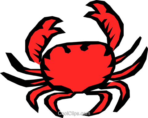 Crab Royalty Free Vector Clip Art illustration anim0729