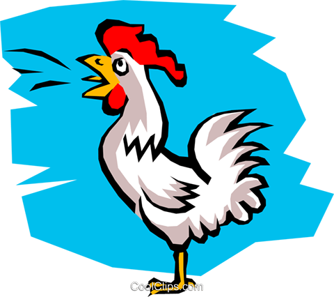 Chicken Royalty Free Vector Clip Art illustration anim0737
