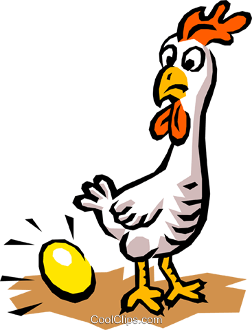 Chicken & egg Royalty Free Vector Clip Art illustration anim0741