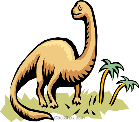 Dinosaur Royalty Free Vector Clip Art illustration anim0744